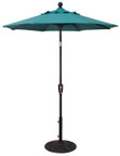 Treasure Garden Aluminum 6' Octagon Push Button Tilt Umbrella, single wind vent