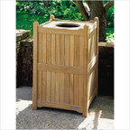 "Oxford Garden 22"" Trash Receptacle"