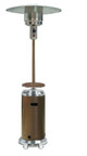 AZ Patio Heaters Tall Stainless Steel and Mocha Patio Heater with Table