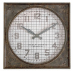 Uttermost Warehouse Clock with Grill