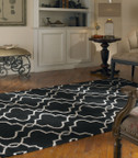 Uttermost Devonshire Area Rug - Black