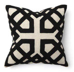 Khwai Applique Black Toss Pillow