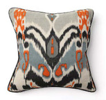 Ikat Print Square Toss Pillow