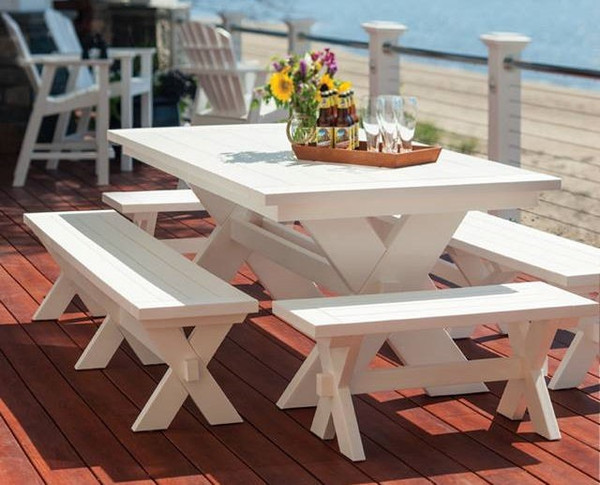 """Seaside Casual Sonoma 36"""" Dining Bench"""