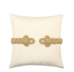 Elaine Smith Golden Frog's Clasp Toss Pillow