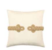 Elaine Smith Golden Frog's Clasp Toss Pillow