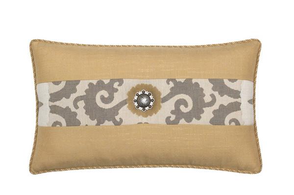 Elaine Smith Jeweled Sedona Gold Toss Pillow