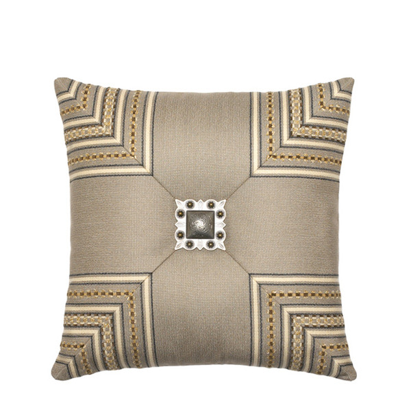 Elaine Smith Jeweled Mitered Stripe toss pillow