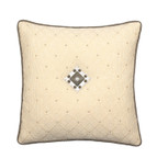 Elaine Smith Jeweled Argyle Toss Pillow