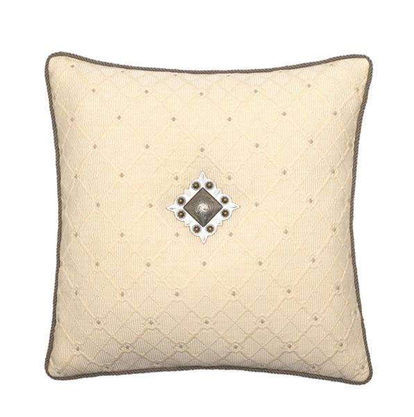 Elaine Smith Jeweled Argyle Toss Pillow