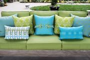 Elaine Smith Basketweave Aruba Lumbar pillow