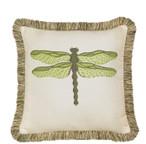 Elaine Smith Dragonfly Peridot Toss Pillow