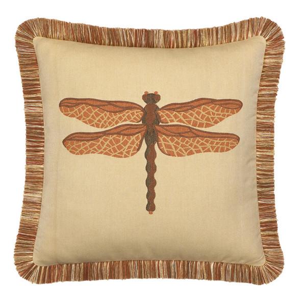 Elaine Smith Dragonfly Spice Toss Pillow
