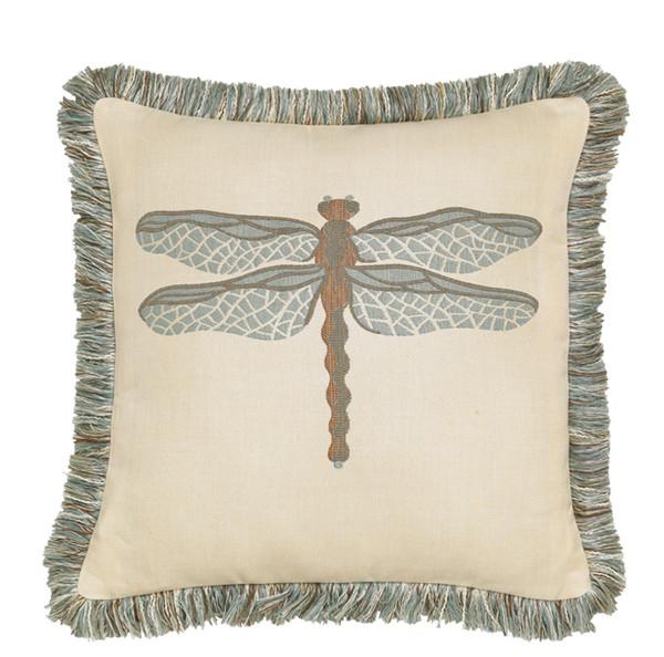 Elaine Smith Dragonfly Spa Toss Pillow