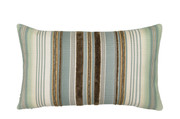Elaine Smith Aqua Stripe Lumbar Pillow