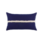 Elaine Smith Navy Braided Lumbar pillow