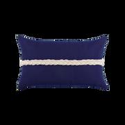 Elaine Smith Navy Braided Lumbar pillow