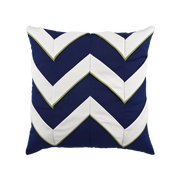 Elaine Smith Navy Cruise Chevron toss pillow