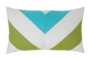 Elaine Smith Poolside Chevron Lumbar pillow