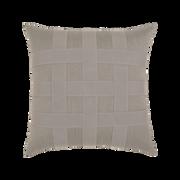 Elaine Smith Basketweave Gray toss pillow