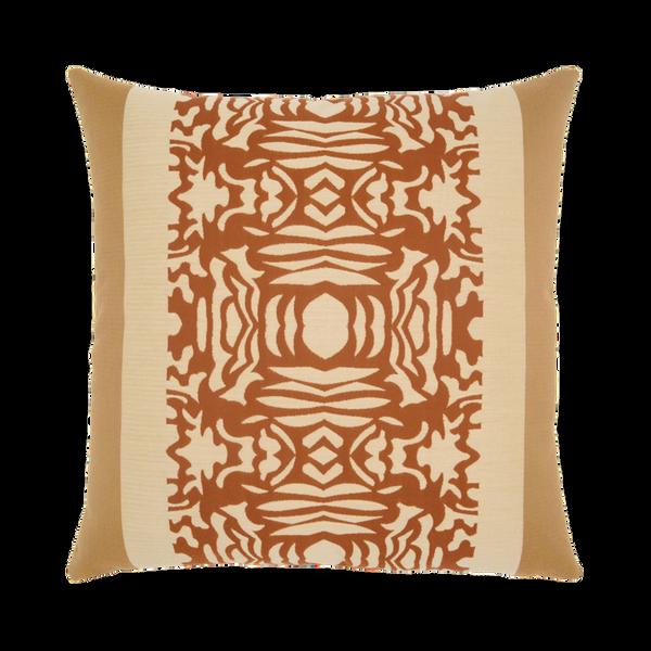 Elaine Smith Nutmeg Block toss pillow