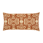Elaine Smith Nutmeg Block Lumbar pillow
