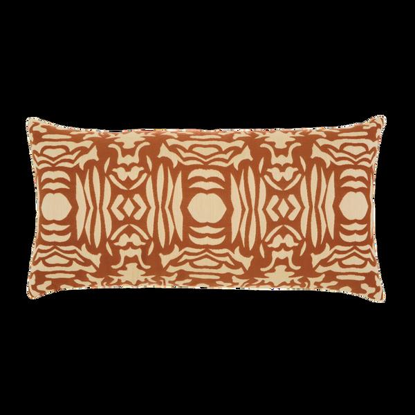 Elaine Smith Nutmeg Block Lumbar pillow