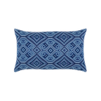 Elaine Smith Tile Midnight Lumbar pillow