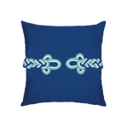 Elaine Smith Cobalt Frog's Clasp toss pillow