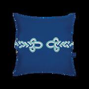 Elaine Smith Cobalt Frog's Clasp toss pillow