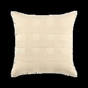 Elaine Smith Basketweave Ivory toss pillow