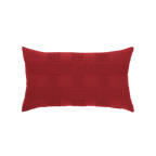 Elaine Smith Basketweave Rouge Lumbar pillow