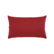 Elaine Smith Basketweave Rouge Lumbar pillow, back