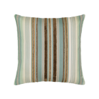 Elaine Smith Aqua Stripe toss pillow