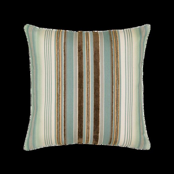 Elaine Smith Aqua Stripe toss pillow