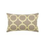 Elaine Smith Octagon Citrine Lumbar pillow