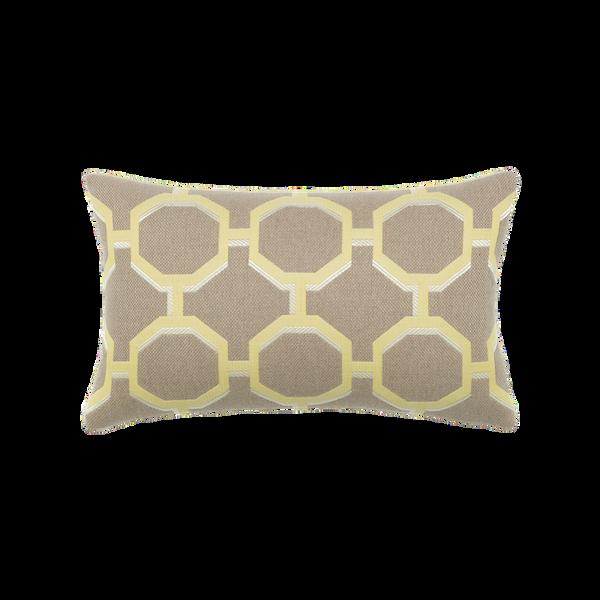 Elaine Smith Octagon Citrine Lumbar pillow