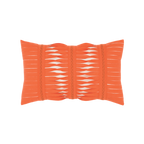 Elaine Smith Gladiator Coral Lumbar pillow