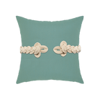 Elaine Smith Spa Frog's Clasp toss pillow