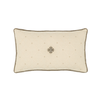 Elaine Smith Jeweled Argyle Lumbar pillow