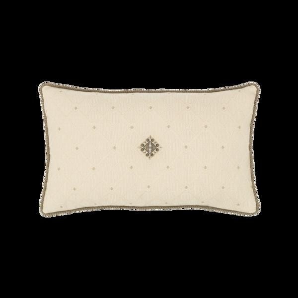 Elaine Smith Jeweled Argyle Lumbar pillow