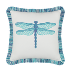 Elaine Smith Dragonfly Pool toss pillow