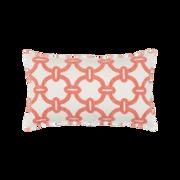 Elaine Smith Hibiscus Hoop Lumbar pillow