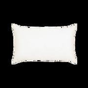 Elaine Smith Hibiscus Hoop Lumbar pillow, back