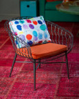 Twist Collection Club Chair with Custom Cushion