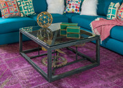Iron Gear Square Coffee Table