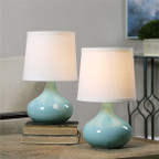 Gabbiano Teal Lamp