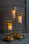 Set Of Three Gold Lanterns