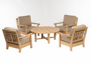 CO9 Design Jackson Club Chair Chat Set with Spectrum Mushroom Cushions