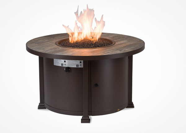 "Garden Cottage 42"" Round Chat Height Gas Fire Pit"